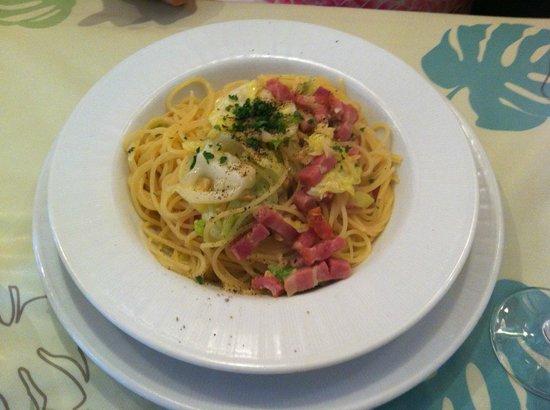RISTORANTE CIVETTA: Civetta - Today's Special: Spring Cabbage and Bacon Spaghetti