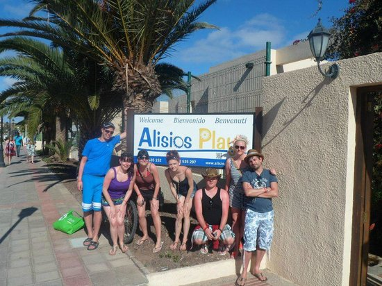 Alisios Playa : Just before we left to come home.