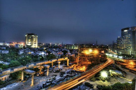 Gurgaon, Indien: Skyline