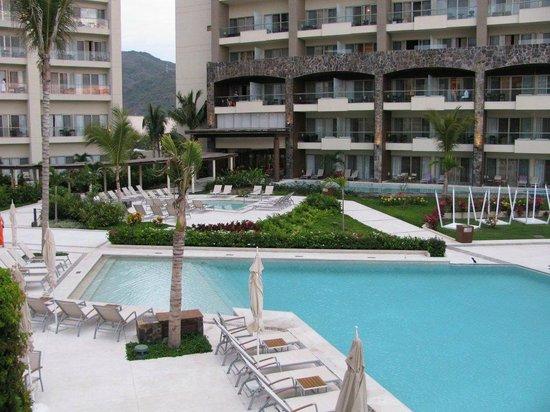 Secrets Vallarta Bay Resort & Spa: View of Preferred Club building (overlooking main pool)