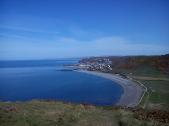 Shoreline Guest House: Aber from the top of Penyrallt