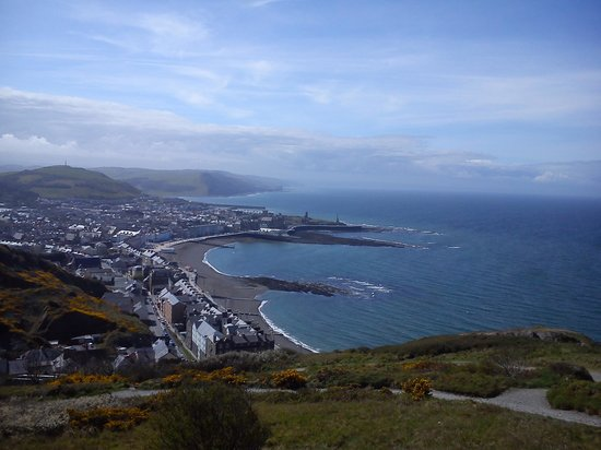 Shoreline Guest House: Aber from the top of Consti
