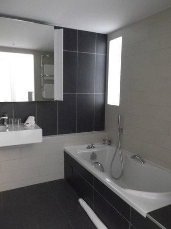 Royal Antibes Hotel, Residence, Beach & Spa: Bathroom (open shower to left)