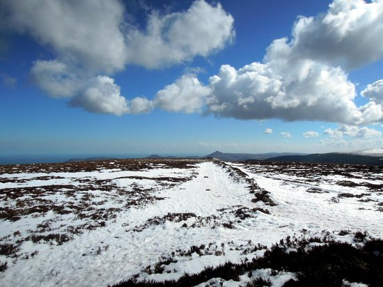 Dublin Mountains: Looking south to the Sugarloaf