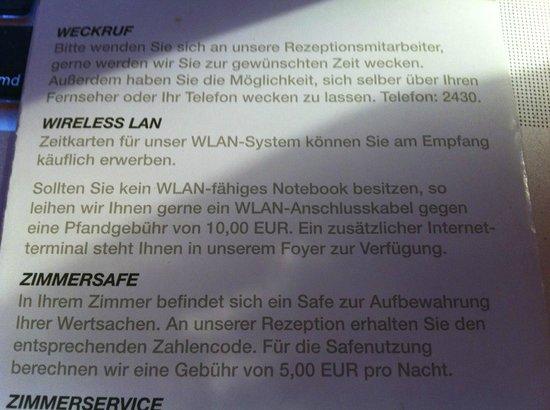 Mercure Hotel Itzehoe Klosterforst: WLAN Anschlusskabel???