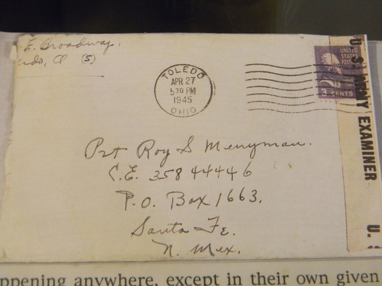 los alamos history museum letter addressed to los alamos using the top secret po box
