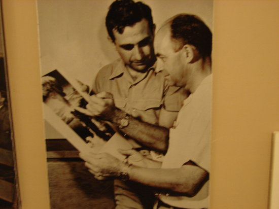 Los Alamos Historical Museum: Scientists who worked on the Manhattan Project (Enrico Fermi on right)