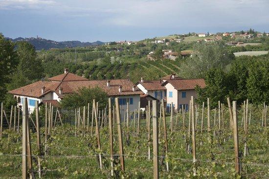 Albergo Ristorante La Spiga: view from higher up the hillside
