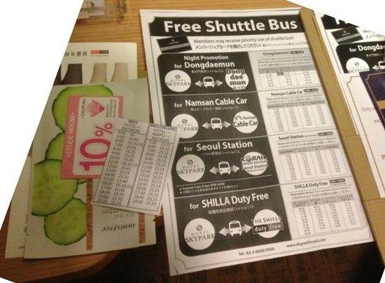 โฮเต็ล สกายพาร์ค มายอองดอง ทรี: Shuttle Bus services, masks, Etude voucher & airport bus timetable