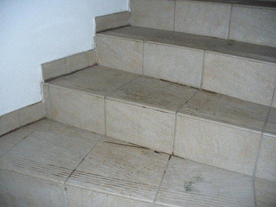 Residence Le Hameau des Ecrins : saleté escaliers