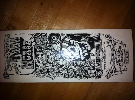 Dark Horse Bar: carte