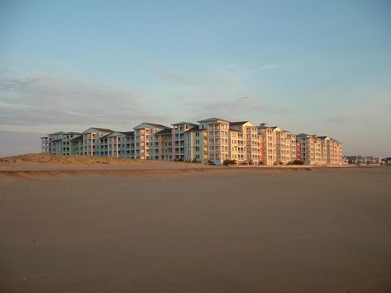 Sanctuary Realty at False Cape: Complex from beach