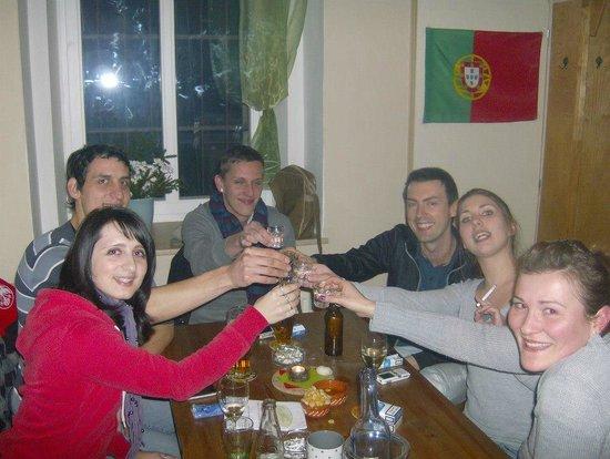 "Oliveira - Wine Tapas Market : Czech visitors testing portuguese ""Medronho"""