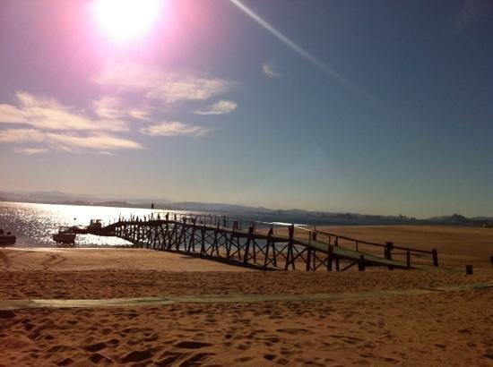 Playa de El Puntal: el puntal desde el Chiringuito