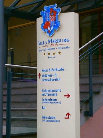 Villa Marburg im Park: Wegweiser