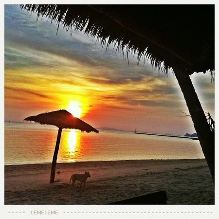 Hansa Resort: Sunset time.