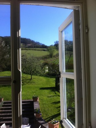 The Bell at Skenfrith: View from our corner bedroom