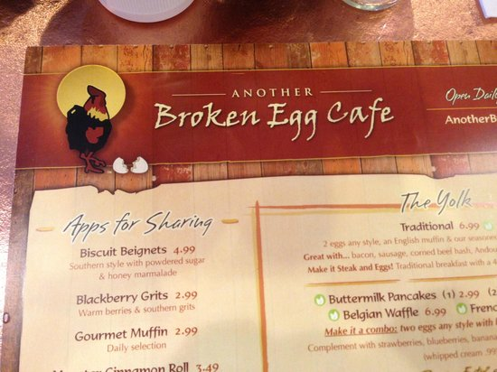 Another Broken Egg Cafe Brunch Menu