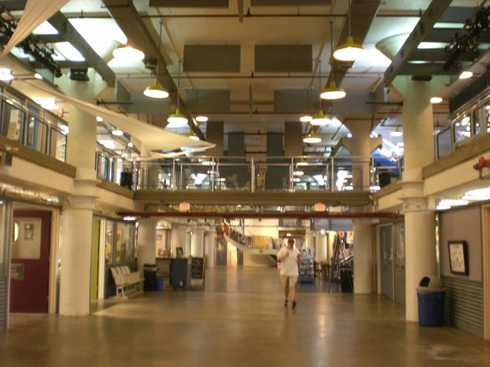 Old Town Waterfront: View inside the Torpedo Factory Art Center