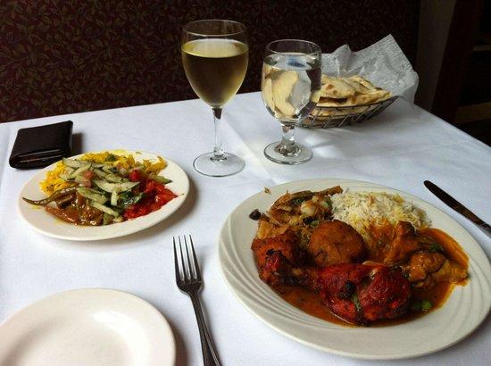 Salaam Bombay : 14 USD menu