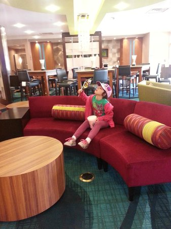 SpringHill Suites Philadelphia Langhorne : The lobby is amazing! My daughter did not want to leave.PS:They sell cotton candy in the snack a