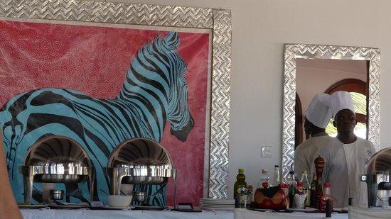 Garoda Resort: Il ristorante (particolare)