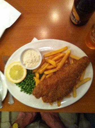 Ramada London South Ruislip: Fish n chips from the restaurant