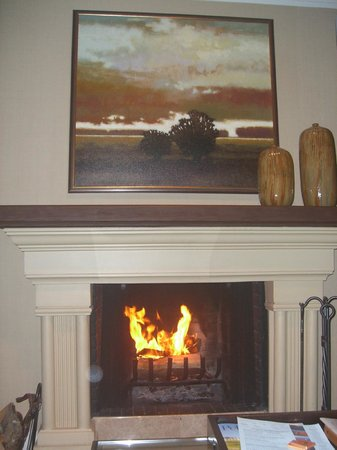 The Lodge at Pebble Beach: fireplace