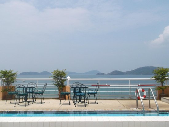 Kantary Bay, Phuket: view from the roof top pool