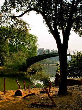 Parque do Ibirapuera: The lake bridge at Ibirapuera