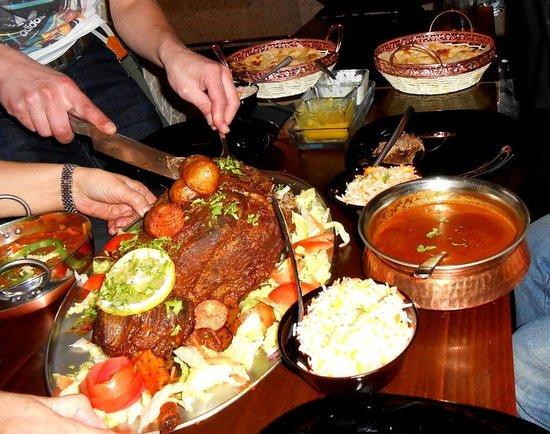 Slumdog: Stunning food.