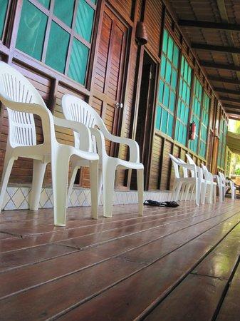 Jinetes de Osa Hotel: The deck