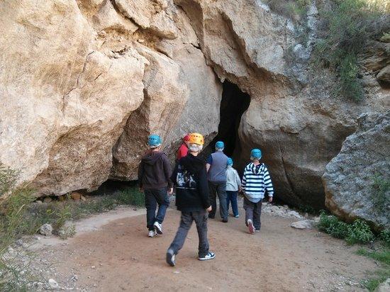 Cuevas de Sorbas : Entrada a las cuevas