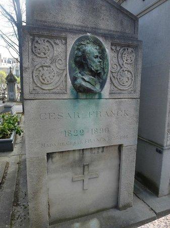 Cimetière du Montparnasse : Cesar Franck. Every lover of Marcel Proust should know the name.