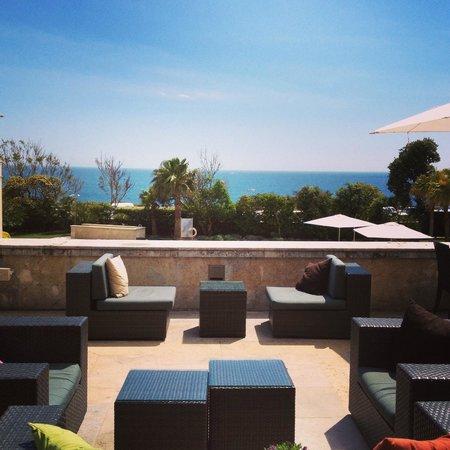 Grande Real Villa Italia Hotel & Spa: drinks on the terasse