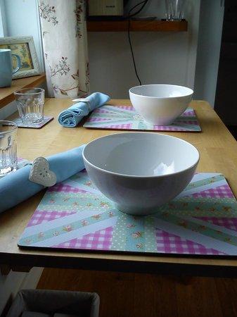 The Shepherd's House Bed & Breakfast: Breakfast table