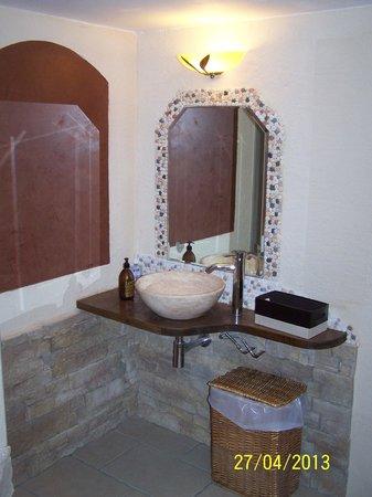 Le Mas des Ecureuils Hotel: Le Hammam et le coin douche