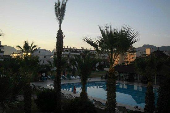 Club Hotel Pineta: large pool veiw from balcony 7am