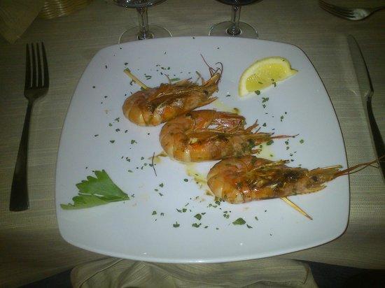 Cruccuris Resort: Gambas (main course)