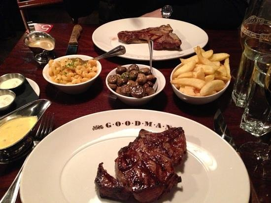 Goodman Canary Wharf: Steak and sides