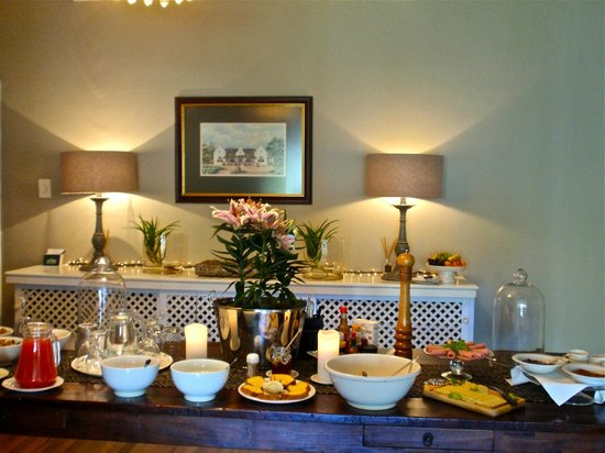 Albourne Boutique Guest House : Continental Breakfast is served