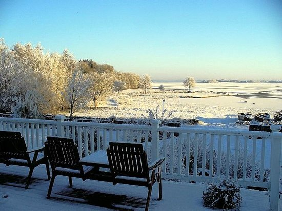 The Waterfront House Country Home: Snow on frozen Lough Corrib