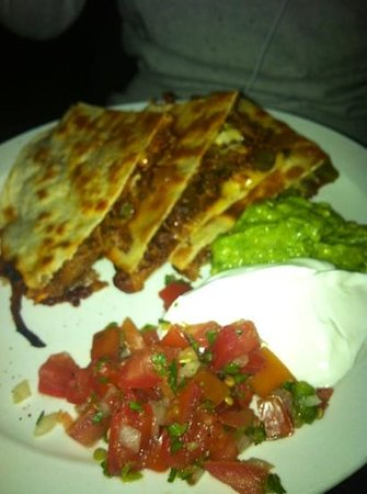 Southwest NY: pulled pork quesadillas (minus one slice because someone couldn't wait to taste the goodness)