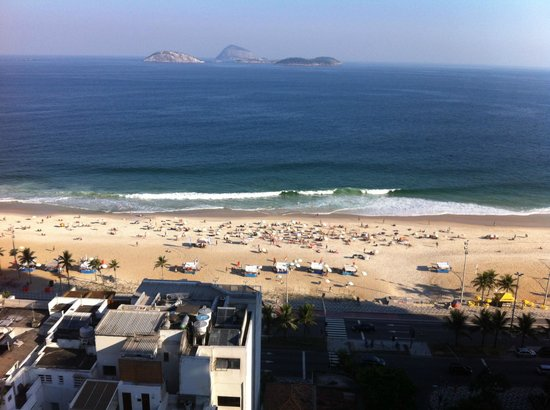 Ipanema Plaza Hotel: View from roof terrace
