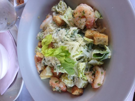 Pink Elephant: Caesar salad with shrimp