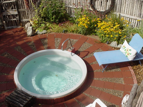 Inn on the Rio: Enjoy our spa in its garden setting