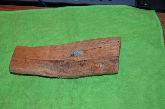 Gettysburg Museum of History : Bullet embedded in wood - Some of the relics displayed are for sale! This one WAS!!! .