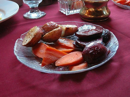 Greene, ME: Roasted Organic Potatoes, Beets, and Carrots