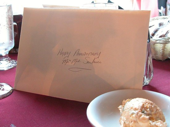 Greene, ME: Each couple got nice personalized Anniversary Cards