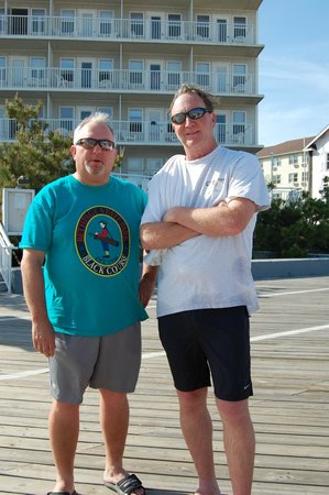 The Commander Hotel: on the boardwalk with the commander behind